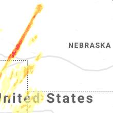 Regional Hail Map for North Platte, NE - Sunday, May 23, 2021