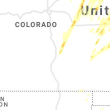 Regional Hail Map for Pueblo, CO - Sunday, May 23, 2021