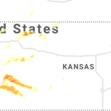 Regional Hail Map for Hays, KS - Monday, May 24, 2021