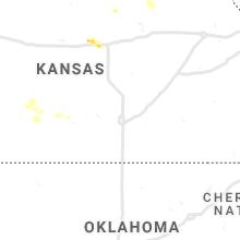 Regional Hail Map for Wichita, KS - Tuesday, May 25, 2021