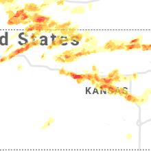 Regional Hail Map for Hays, KS - Wednesday, May 26, 2021