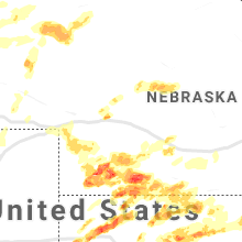 Regional Hail Map for North Platte, NE - Wednesday, May 26, 2021