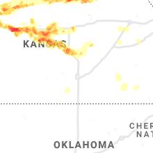 Regional Hail Map for Wichita, KS - Wednesday, May 26, 2021