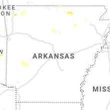 Regional Hail Map for Little Rock, AR - Thursday, May 27, 2021