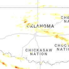 Regional Hail Map for Oklahoma City, OK - Thursday, May 27, 2021