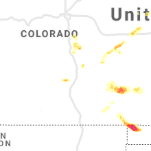 Regional Hail Map for Pueblo, CO - Saturday, May 29, 2021