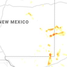 Regional Hail Map for Roswell, NM - Wednesday, June 2, 2021
