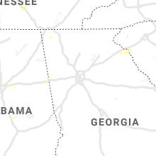 Regional Hail Map for Atlanta, GA - Thursday, June 3, 2021
