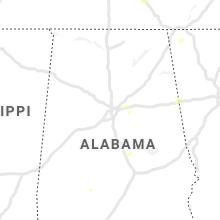 Regional Hail Map for Birmingham, AL - Thursday, June 3, 2021