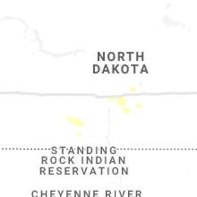 Regional Hail Map for Bismarck, ND - Friday, June 4, 2021