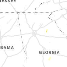 Regional Hail Map for Atlanta, GA - Sunday, June 6, 2021