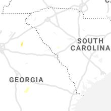 Regional Hail Map for Augusta, GA - Sunday, June 6, 2021