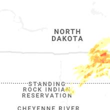 Regional Hail Map for Bismarck, ND - Monday, June 7, 2021