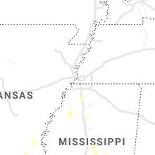 Regional Hail Map for Memphis, TN - Monday, June 7, 2021