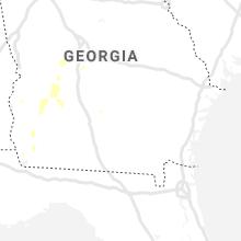 Regional Hail Map for Douglas, GA - Tuesday, June 8, 2021