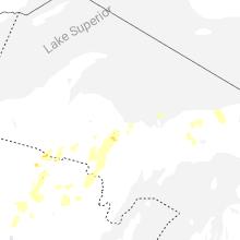 Regional Hail Map for Marquette, MI - Tuesday, June 8, 2021