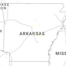 Regional Hail Map for Little Rock, AR - Wednesday, June 9, 2021