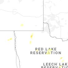Regional Hail Map for Roseau, MN - Wednesday, June 9, 2021