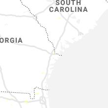 Regional Hail Map for Savannah, GA - Wednesday, June 9, 2021