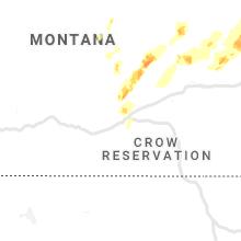 Regional Hail Map for Billings, MT - Thursday, June 10, 2021