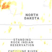Regional Hail Map for Bismarck, ND - Thursday, June 10, 2021