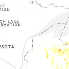 Regional Hail Map for Duluth, MN - Thursday, June 10, 2021
