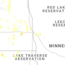 Regional Hail Map for Fargo, ND - Thursday, June 10, 2021