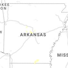 Regional Hail Map for Little Rock, AR - Thursday, June 10, 2021