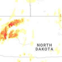 Regional Hail Map for Minot, ND - Thursday, June 10, 2021