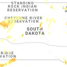 Regional Hail Map for Pierre, SD - Thursday, June 10, 2021