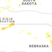 Regional Hail Map for Valentine, NE - Thursday, June 10, 2021