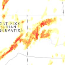 Regional Hail Map for Williston, ND - Thursday, June 10, 2021