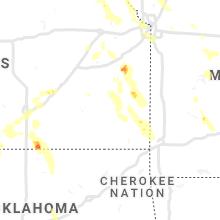 Regional Hail Map for Chanute, KS - Friday, June 11, 2021