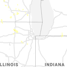 Regional Hail Map for Chicago, IL - Friday, June 11, 2021