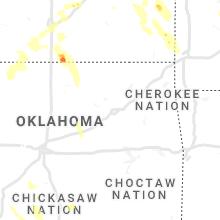 Regional Hail Map for Tulsa, OK - Friday, June 11, 2021