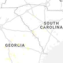 Regional Hail Map for Augusta, GA - Saturday, June 12, 2021