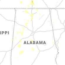Regional Hail Map for Birmingham, AL - Saturday, June 12, 2021