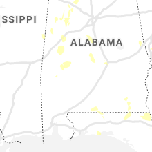 Regional Hail Map for Camden, AL - Saturday, June 12, 2021