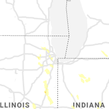 Regional Hail Map for Chicago, IL - Saturday, June 12, 2021