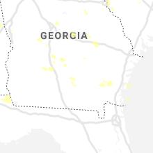 Regional Hail Map for Douglas, GA - Saturday, June 12, 2021