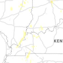 Regional Hail Map for Evansville, IN - Saturday, June 12, 2021