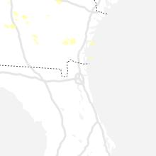 Regional Hail Map for Jacksonville, FL - Saturday, June 12, 2021