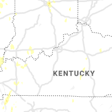 Regional Hail Map for Louisville, KY - Saturday, June 12, 2021
