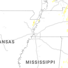 Regional Hail Map for Memphis, TN - Saturday, June 12, 2021
