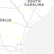 Regional Hail Map for Savannah, GA - Saturday, June 12, 2021