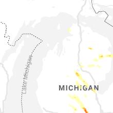 Regional Hail Map for Traverse City, MI - Saturday, June 12, 2021