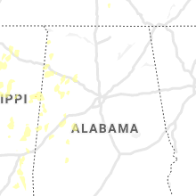 Regional Hail Map for Birmingham, AL - Sunday, June 13, 2021