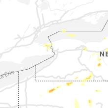 Regional Hail Map for Buffalo, NY - Sunday, June 13, 2021