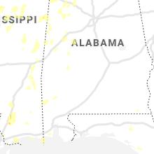 Regional Hail Map for Camden, AL - Sunday, June 13, 2021