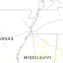 Regional Hail Map for Memphis, TN - Sunday, June 13, 2021